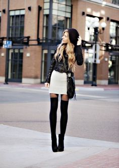 amazing - legs for days. socks and boots