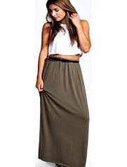 boohoo Vivian Viscose Jersey Belted Maxi Skirt - khaki Cool and comfortable, this minimalist maxi skirt is a summer staple. For an effortless every day ensemble, wear with a jersey crop top , pretty pendant necklace and a flirty fedora hat . http://www.comparestoreprices.co.uk/skirts/boohoo-vivian-viscose-jersey-belted-maxi-skirt--khaki.asp