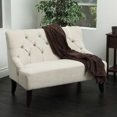 Nicole Fabric Settee by Christopher Knight Home - Free Shipping Today - Overstock.com - 16480424 - Mobile
