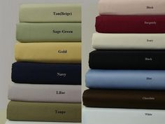 "16"" Deep Pocket- 300TC Solid Cotton Luxury Bed Sheet Sets Color: Navy Size: King"