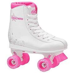 Roller Derby U324G-01 Girls Roller Star 350 Quad Skate, Size 1, White/Pink