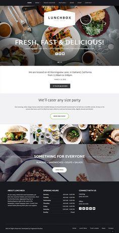 Design Lunchbox - Food Truck & Restaurant Theme Common-Sense Ways to Keep Kids Away From Website Design Inspiration, Web Design Blog, Food Web Design, Food Truck Design, Layout Design, Website Design Layout, Menu Design, Web Layout, Design Design