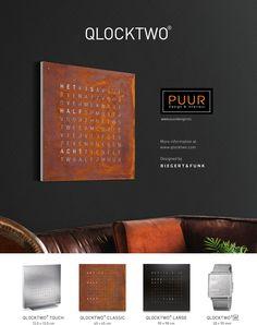 Deze prachtige design klokken weergeven de tijd in woorden. De klokken van Qlocktwo zijn niet alleen erg functioneel maar ook sierlijk! Een echte eye-catcher in uw woning dus!