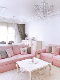 House Rooms, Living Rooms, Perfect Pink, Home Room Design, Furnitures, Modern Furniture, Sofas, Art Deco, Girly