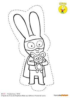 """Résultat de recherche d'images pour """"coloriage lapin simon"""""""