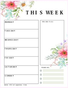 This free printable daily planner set will help you streamline your daily to-do's in a snap. There are three daily planning templates to choose from. Blog Planner, To Do Planner, Study Planner, Free Planner, Happy Planner, Weekly Planner Template, College Planner, College Tips, Planner Board