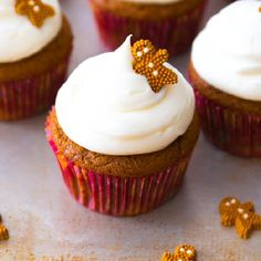 My favorite gingerbread cupcake recipe, otherwise known as the best thing I've ever made!