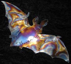 BAT Halloween House Home Metal Wall Art Decor by metalshine, $15.00