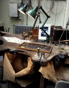 Jeweller's bench, via Flickr.