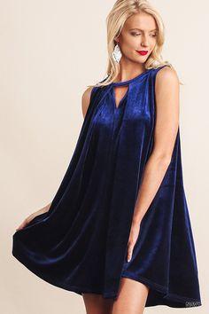 Royal Blue/Navy Velvet Dress