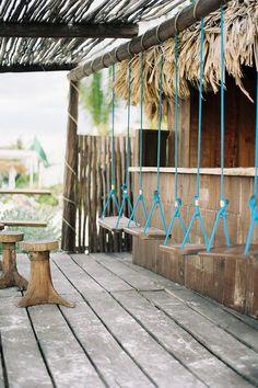 Tulum, Mexico - Tec Petaja Swings! An idea for our palapas on the hill