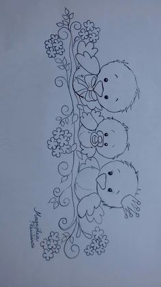 Most up-to-date No Cost Fabric painting baby Popular , Baby Embroidery, Hand Embroidery Patterns, Applique Patterns, Vintage Embroidery, Embroidery Stitches, Motifs D'appliques, Coloring Book Pages, Fabric Painting, Vintage Patterns