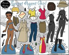 """Happy Monday all! Today's paper doll is, as expected, a Marisole Monday & Friends paper doll in full color with a stylish spy wardrobe. My mother wanted me to mention, after reading my last post about Secret Agent Man, that she did not like Johnny Rivers and it wasn't her … More Below! →"