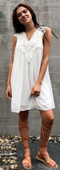 Ladies! Try it!! Perfect summer dress ideas. More cute pieces at chicnico.com