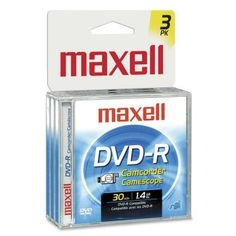 Maxell Dvd-R Camcorder 1.4gb 3 Pack Maxell http://www.amazon.com/dp/B003ILR3WG/ref=cm_sw_r_pi_dp_8tU5ub1EMZV2P
