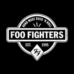 """Foo Fighters Store \ """"Hand Made"""" Black Long Sleeve T-Shirt"""