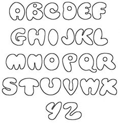 Alphabet Printable Stencils Letters | … Fonts Alphabet, Printable Bubble A-Z | Graffiti Alphabet Letters
