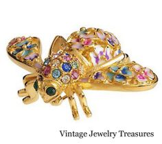 JOAN RIVERS Limited Edition Numbered Pansy Multi Color Bee Pin New