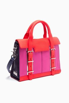 Color Block Neon Satchel by Nasty Gal