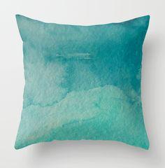 Blue Watercolor Pillowcase via Great.ly. #adoredecor
