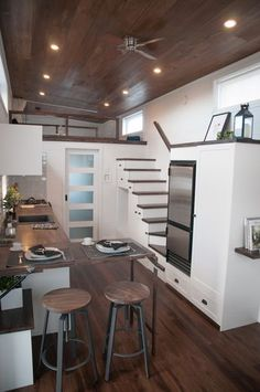 The Laurier: a beautiful two bedroom tiny house, designed for a client with physical limitations, by Minimaliste.