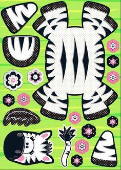 Zebra: Cute Free Printable Paper Toy.