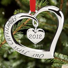 Lenox Forevermore 2012 Our First Christmas Ornament #VonMaur