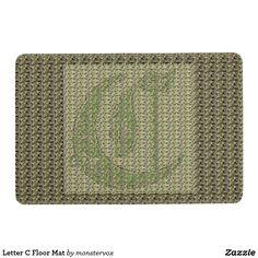 Letter C Floor Mat #Alphabet #Letter #Embossed #Art #Home #Decor #Mat #FloorMat