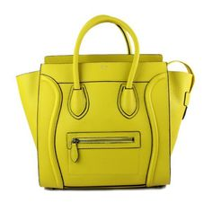 Celine Luggage Yellow Smile Leather Bag - $265.99  http://www.hjbon.com/celine-luggage-yellow-smile-leather-bag-p-9035.html