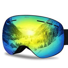 7ee0f9dc3aaa New G4Free Ski Snowboard Goggles Over Glasses for Men Women Youth