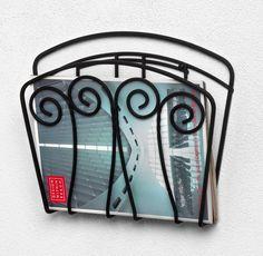 Wall Mount Magazine Rack Newspaper Holder Basket Bathroom Toilet Book Storage #Spectrum