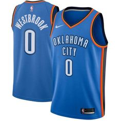 339c71bd2 Men 0 Russell Westbrook Icon Jersey Blue Oklahoma City Thunder Jersey