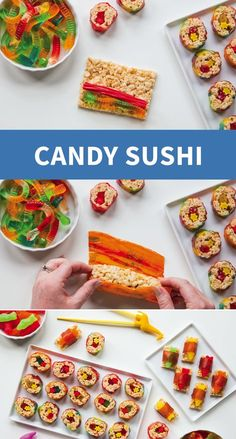 Get creative in the kitchen with your kids this winter! Sweet, savory, and filled with candy, this Marshmallow Treat Sushi recipe is not only fun to make, but also fun to eat. Grab your kid's favorite candies and whip up this tasty treat for a super fun afternoon snack.