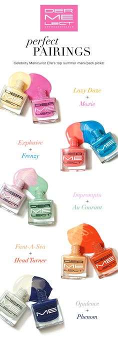 Try some of these mani/pedi combos for summer!