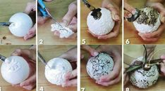 homemade christmas tree ornaments tutorial diy relief floral christmas crafts, ideas and DIY for dec Homemade Christmas Tree, Christmas Crafts To Make, Christmas Fun, Christmas Bulbs, Beaded Christmas Ornaments, Handmade Christmas Decorations, Christmas Tree Decorations, Ornament Tutorial, Ornament Crafts