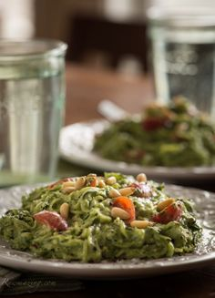 Rawmazing Avocado Kale Pesto with Zucchini Noodles... plus several other spiralizer recipes