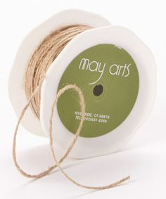 Look what I found on #zulily! Natural Twisted Burlap String by May Arts Ribbon #zulilyfinds