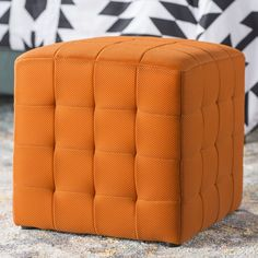 Gorby Cube Ottoman Seat Storage, Cube Storage, Storage Spaces, Furniture Factory, Tufted Ottoman, Extra Seating, Accent Furniture, Foot Rest, All Modern