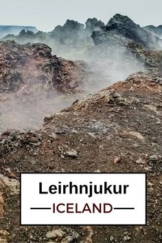 Can you imagine walking through a fuming lava field? - More photos in the post  - Travel Guide Iceland : Plan your visit to Leirhnjukur