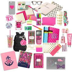 Back to School Supplies Contest by lizguck on Polyvore featuring polyvore, moda, style, The North Face, Kate Spade, BaubleBar, Lilly Pulitzer, Moon and Lola, Glam Bands and Madewell