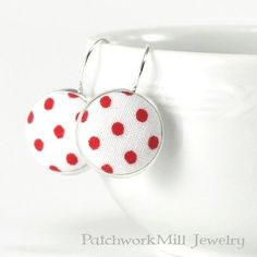Red and White Polka Dots Earrings - Retro Jewelry - Remind me a lovely Summer morning.   http://ift.tt/2baQsSp   #red #redandwhite #backtothebasics #fabric #button #polkadots #white #country #cottage #earrings #jewelry #fifties #earringlove #retro #earringaddict #romantic #accessories #shabbychic #bridal #handmadejewelry #vintagelook #fashion #etsyshop #イヤリング #cottagestyle #etsyhunter #handcrafted #etsyscout #summer #patchworkmilljewelry.etsy.com - Shop Link in Bio