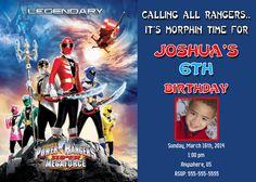 Power Rangers Mega Force Birthday Invitations $8.99