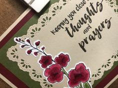 Thoughts & Prayers – December 6, 2019 – Endless Creations Rubber Stamps Sympathy Cards, Stamps, Prayers, December, Old Things, Thoughts, Seals, Prayer, Beans