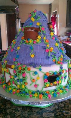 Rapunzel cottage cake.