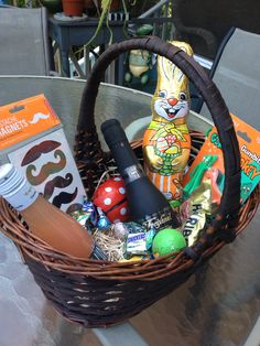 Bloody mary adult easter basket gift baskets pinterest an adult easter basket completely with champagne splits negle Choice Image