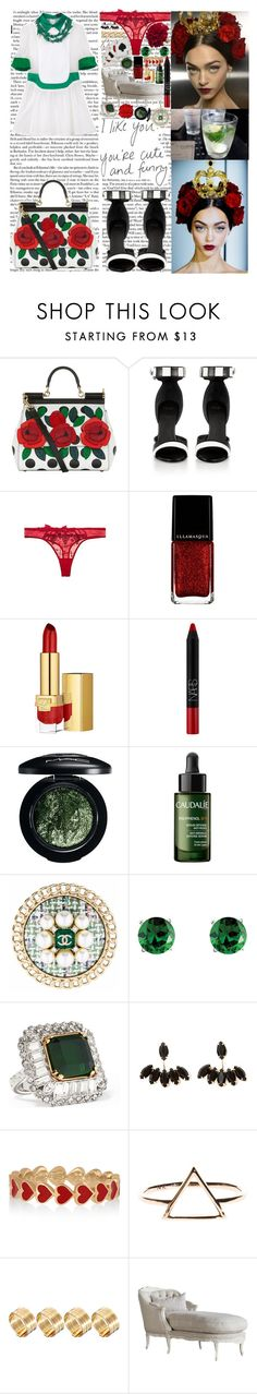 """She got to have her own money (she got her own money), oh yeah Shout out to the girls that pay they rent on time  If you ain't here to party take your ass back home If you getting naughty, baby here's my phone"" by labelsoflove ❤ liked on Polyvore featuring Dolce&Gabbana, Givenchy, xO Design, Passionata, Untold, Estée Lauder, NARS Cosmetics, MAC Cosmetics, Caudalíe and Chanel"