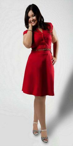 Gorgeous red plus size dress