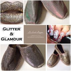 #gaimo bij de www.deleukedingen.nl #handmade #spain #trendy #mode #glitter #espadrilles
