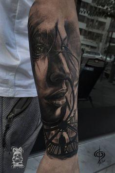 Face Tattoos, Best Sleeve Tattoos, Arrow Tattoos, Forearm Tattoos, Gangsta Tattoos, Badass Tattoos, Cool Tattoos For Guys, Great Tattoos, Banksy Tattoo
