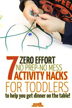 It's much easier to get dinner on the table when you're equipped! These no prep toddler activities are actually hacks of favorite activities my toddler loves, to make them more dinner-prep-friendly!